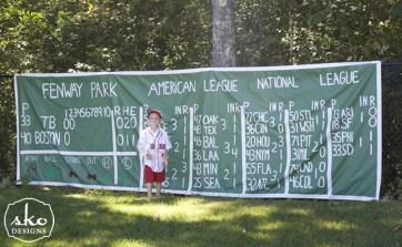 Green Monster Scoreboard Sign