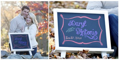 Custom designed chalkboard by SKO Designs. Photography by Shoreshotz Photography.