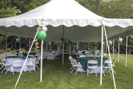 High school graduation party tent