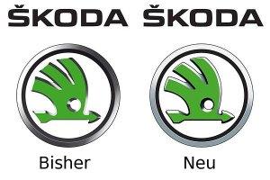 Der Vergleich zwischen neuem und altem Logo