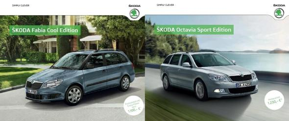 Prospekte Skoda Fabia und Octavia Sondermodelle