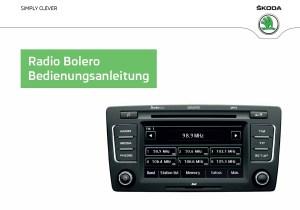 Betriebsanleitung Skoda Radio Bolero