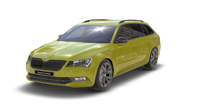 Dragonskin-Gold Metallic Skoda Superb