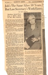 In 1910, 30-year-old Mary Howard began her career as a legal secretary and continued until 1967 at the firm where attorney Squire R. Ogden became a partner in 1923. Her great-granddaughter, Donna Rhodus, is now a legal assistant for SKO in Lexington.