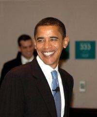 Barrack Obama, biletet er lånt frå Wikipedia
