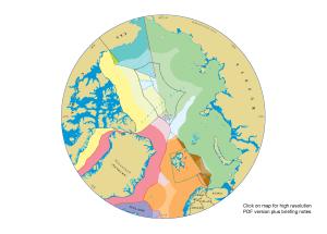 Kart som viser dei overlappande krava i nord