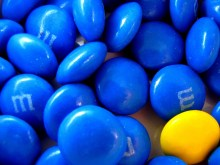 Blått godteri