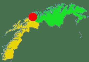Det nye Nord-Norgeg? Kartet er basert på eit frå Wikipedia