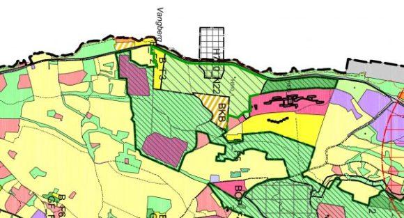 Utsnitt forslaget til arealplan - Holt