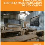 Appel de la société civile francophone contre la marchandisation de l'éducation