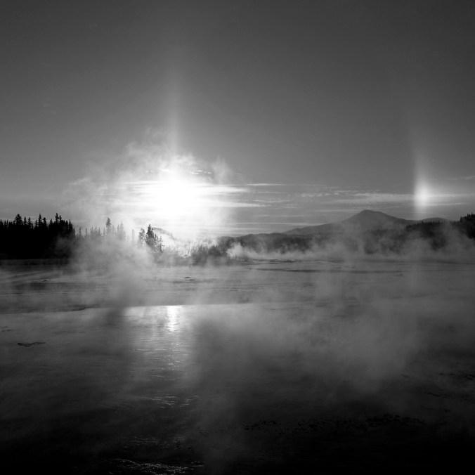 sun dog Yukon River -40c