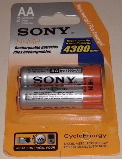Pilhas Sony falsificadas
