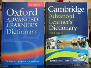 Oxford Advanced Learners Dictionary e Cambridge Advanced Learners Dictionary