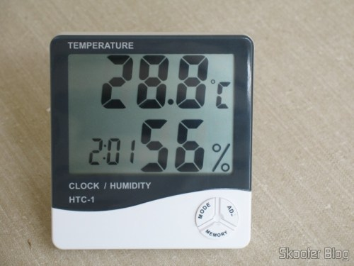 LCD Digital Clock with Thermometer and Hygrometer