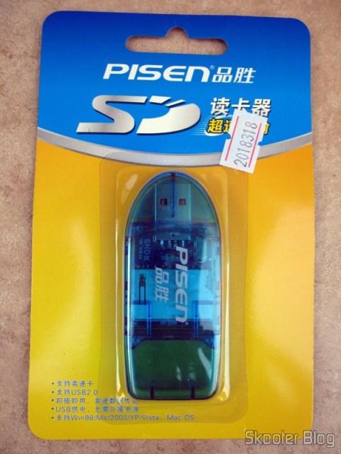Embalagem do Leitor de Cartões SD da Pisen