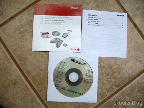 Manuais de instruções e CD de drivers
