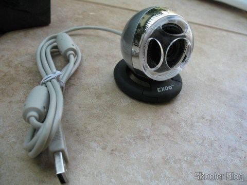 Cabo USB branco da webcam Exoo SD003