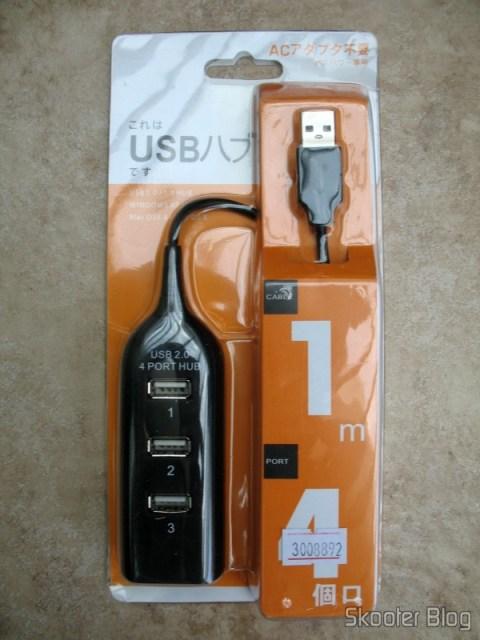Embalagem do hub USB 2.0 com 4 portas