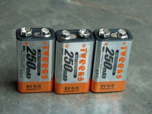 Baterias recarregáveis NiMH 250mAh Tweens