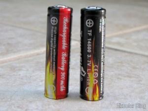 Baterias de lítio 14500 Trustfire: 3,7V, 900mAh recarregáveis e protegidas
