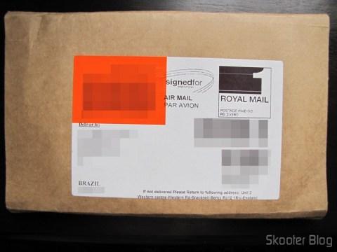 O pacote discreto da ShopTo com o Tom Clancy's EndWar, não tributado
