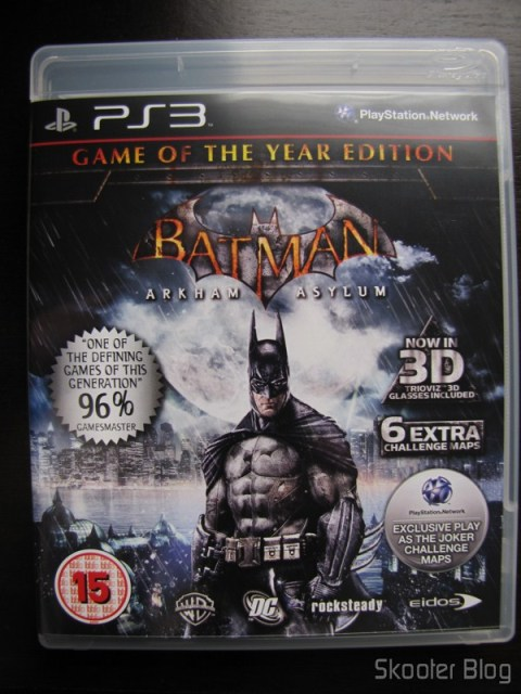 Batman: Arkham Asylum Game of The Year Edition - a caixinha tradicional sob a capa 3D