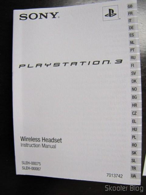Manual de instruções do Headset Bluetooth Wireless Oficial do Playstation 3, com 23 línguas diferentes