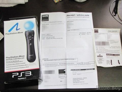 Playstation Motion Move Controller, acompanhado do recibo da GAME