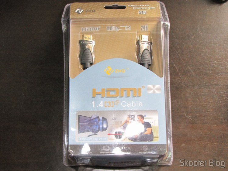 HDMI v1.4 M-M 1080p Gold Plated, doubly shielded 5 meters in its packaging