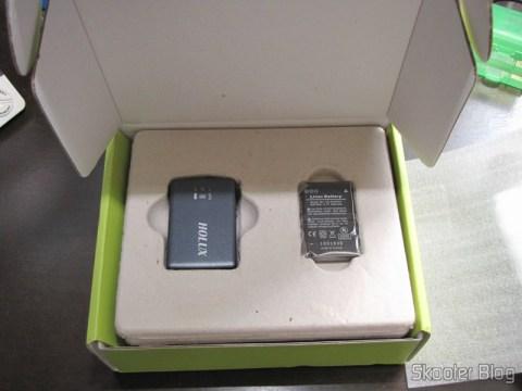 Receptor GPS Bluetooth HOLUX M-1000C com Gravador de Log de Viagem, Recarregável, e sua bateria