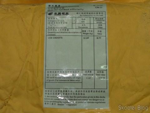 Pacote da DealExtreme com o Controle Remoto de PC USB IR Universal