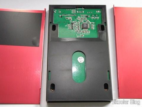 "Case para HD externo 2.5"" SSK SHE066-F vermelho aberto: chip Genesys Logic GL830"
