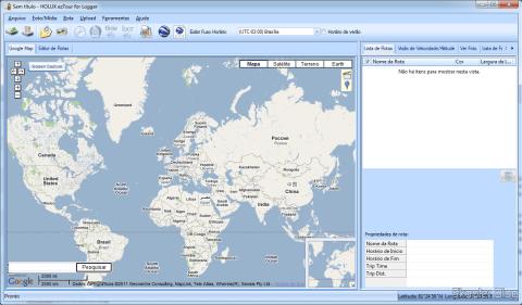 Software HOLUX ezTour para leitura de dados do Receptor GPS Bluetooth HOLUX M-1000C com Gravador de Log de Viagem, Recarregável e indicação da rota percorrida no mapa
