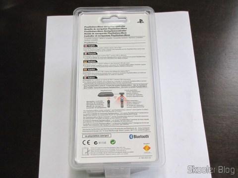 Parte traseira da embalagem do Playstation Move Navigation Controller