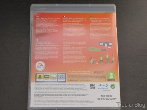 Parte traseira da caixa do Blu-ray do EA SPORTS Active 2 do Playstation 3