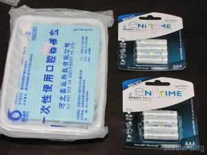 2 Kits 7 em 1 de Ferramentas para Cirurgia Dental Descartáveis e duas cartelas com 4 Pilhas AAA NiMH recarregáveis 1.2V 750mAh GS Yuasa Enitime