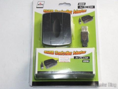 Adaptador USB para dois Controles Gamepad de SNES (Super Nintendo) ou SFC (Super Famicom) em sua embalagem original