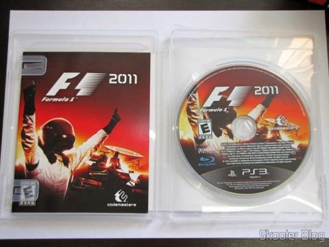 Manual e disco Blu-ray do F1 2011 (PS3)