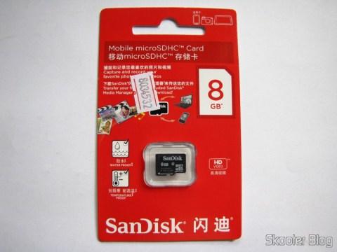 Cartão micro SD Sandisk Genuíno de 8GB (Genuine SanDisk MicroSD/TransFlash TF Memory Card (8GB))