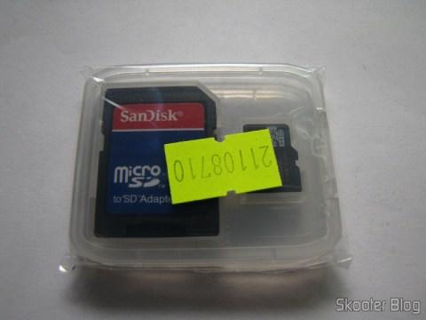 Cartão Micro SDHC TF 16GB Sandisk Genuíno com Adaptador SD no estojo