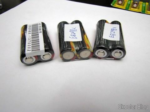 Baterias Recarregáveis de Íons de Lítio Trustfire 14500 Genuínas de 3.6V 900mAh (Genuine TrustFire 2*3.6V 900mAh 14500 Rechargeable Li-ion Battery)