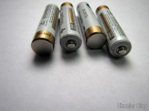 4 Pilhas Recarregáveis AAA 800mAh 1.2V Sony