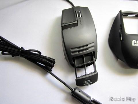 Compartimento de pesos do Mouse Logitech G9x - Edição Call of Duty: Modern Warfare 3 (New Logitech G9X Gaming Mouse Call of Duty: MW3 Edition)