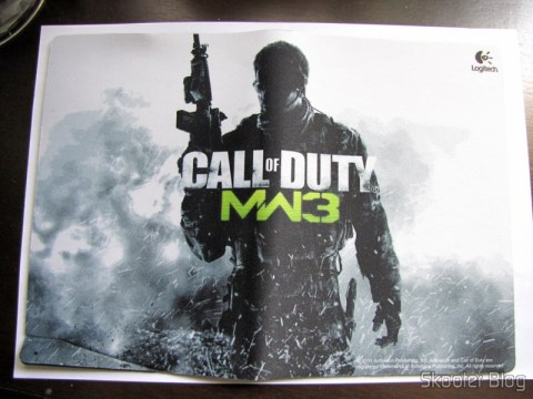Mouse Pad que acompanha o Mouse Logitech G9x - Edição Call of Duty: Modern Warfare 3 (New Logitech G9X Gaming Mouse Call of Duty: MW3 Edition)