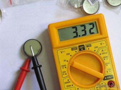 Test of Lithium Batteries CR2450 3V (CR2450 3V Cell Battery) no multimeter