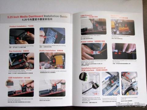 Manual de instruções do Painel Frontal 5.25″ Multi-Função Tudo-em-Um USB 2.0 / 3.0 e Leitor de Cartões (All-in-1 5.25″ USB 2.0 / 3.0 Multi-Function Front Panel Media Card Reader Dashboard)