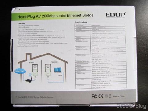 Par de Adaptadores de Comunicação em Rede Powerline Home Plug 200Mbps EP-PLC5506 (EP-PLC5506 200Mbps Home Plug Powerline Network Communication Adapters (Pair))