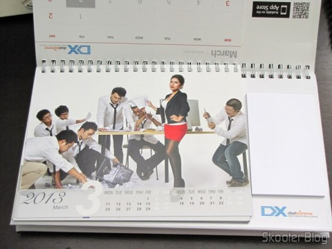 Desktop Calendar with Coupons for Discount 12 Months DX 2013 (DX 2013 Desk Calendar with 12 Months' Coupon Codes) - March