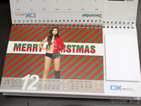 Desktop Calendar with Coupons for Discount 12 Months DX 2013 (DX 2013 Desk Calendar with 12 Months' Coupon Codes) - December