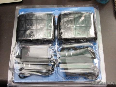 Repetidor / Extensor de Controle Remoto Sem Fio IR 433MHz, até 200 metros Pakite PAT-433 (New 433MHz Wireless IR Remote Extender Repeater 200M) em sua embalagem